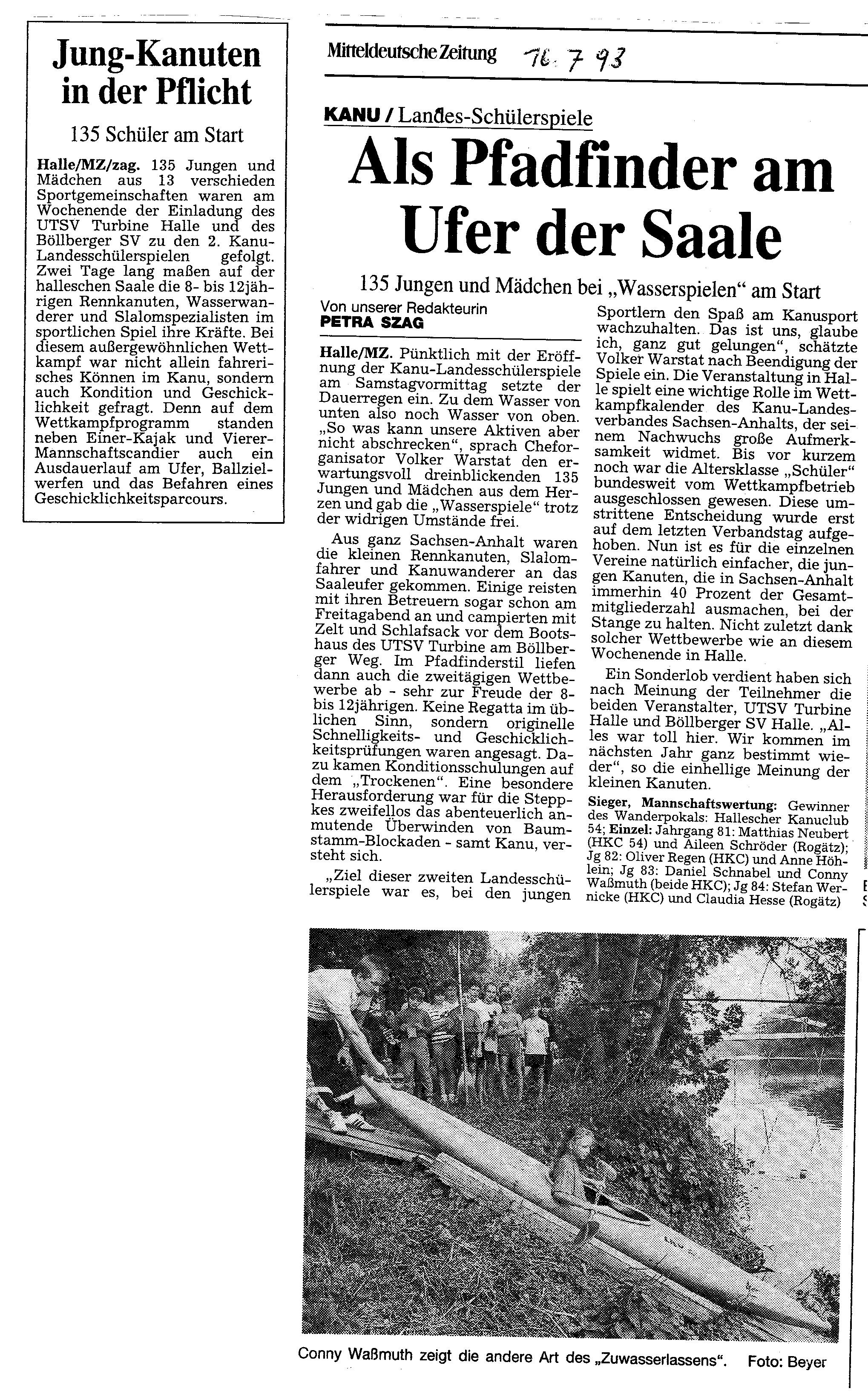 1993-07-16 MZ Als Pfadfinder am Ufer der Saale