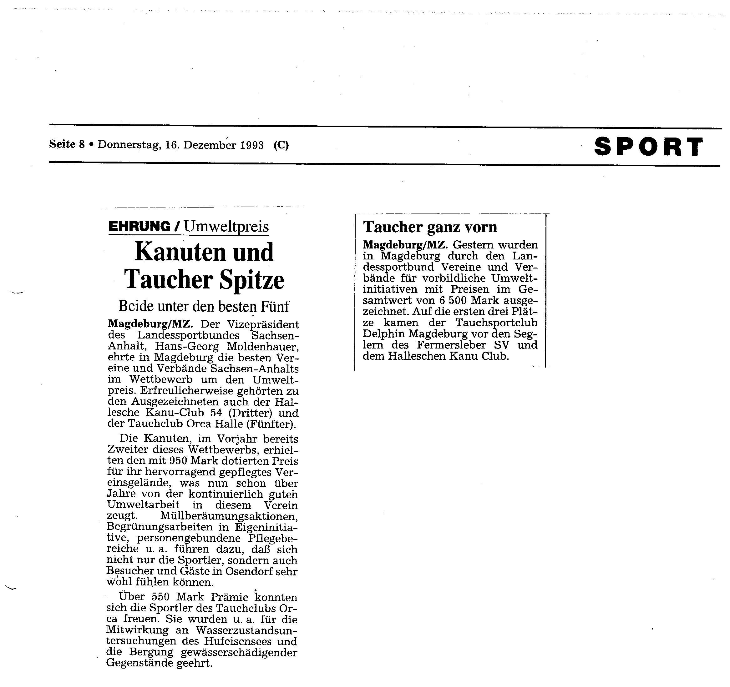 1993-12-16 MZ Kanuten und Taucher Spitze
