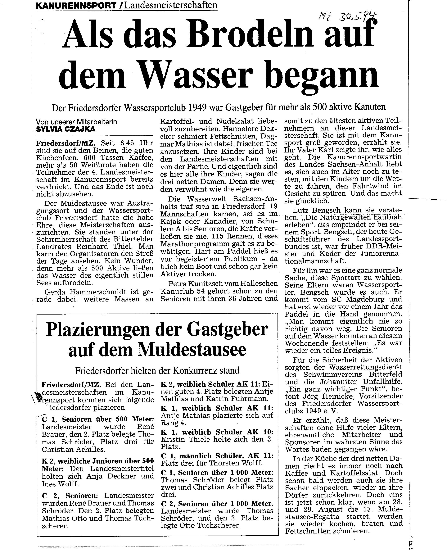 1994-05-30 MZ Als das Brodeln auf dem Wasser begann WSC