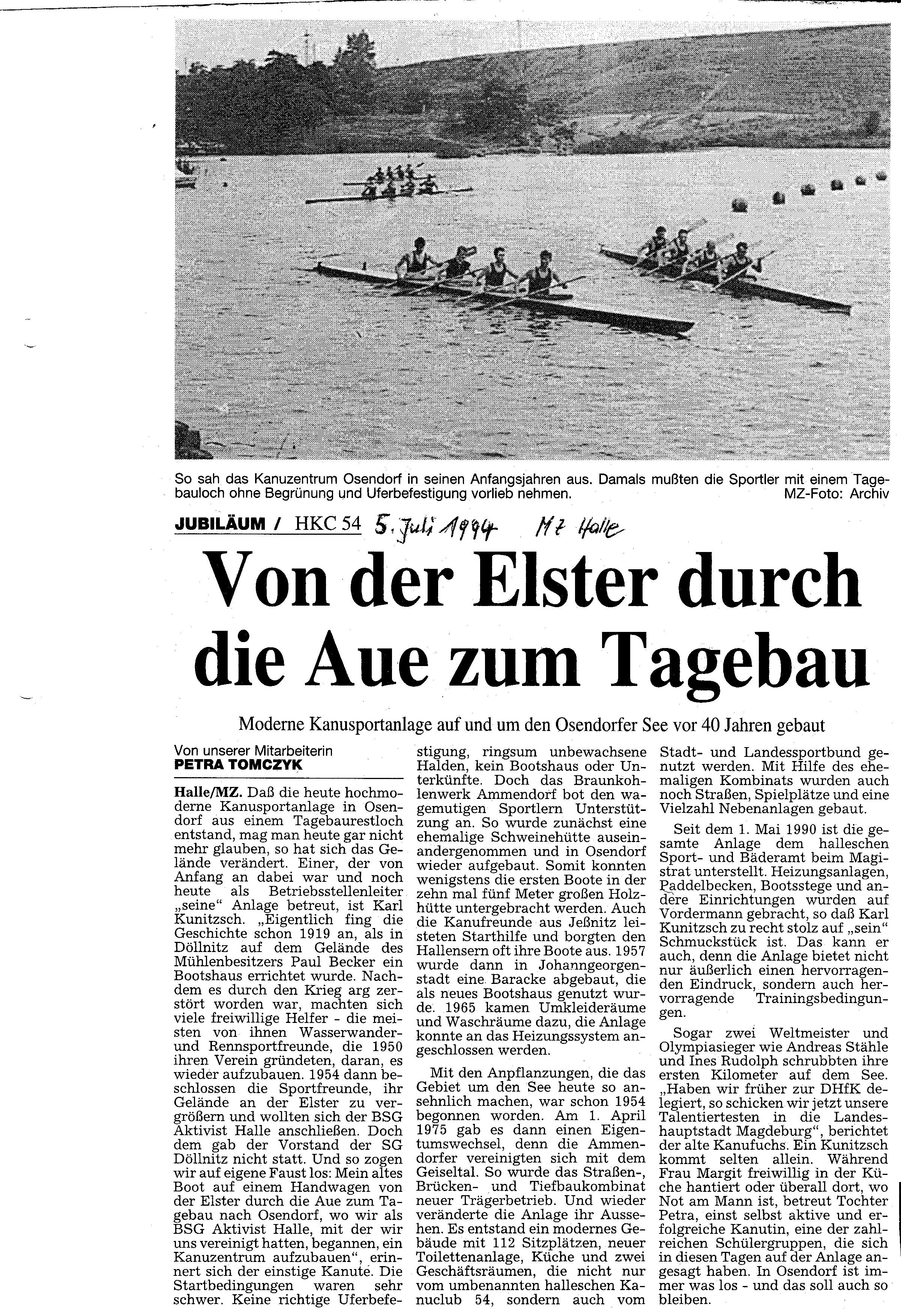 1994-07-05 MZ Von der Elster durch die Aue zum Tagebau