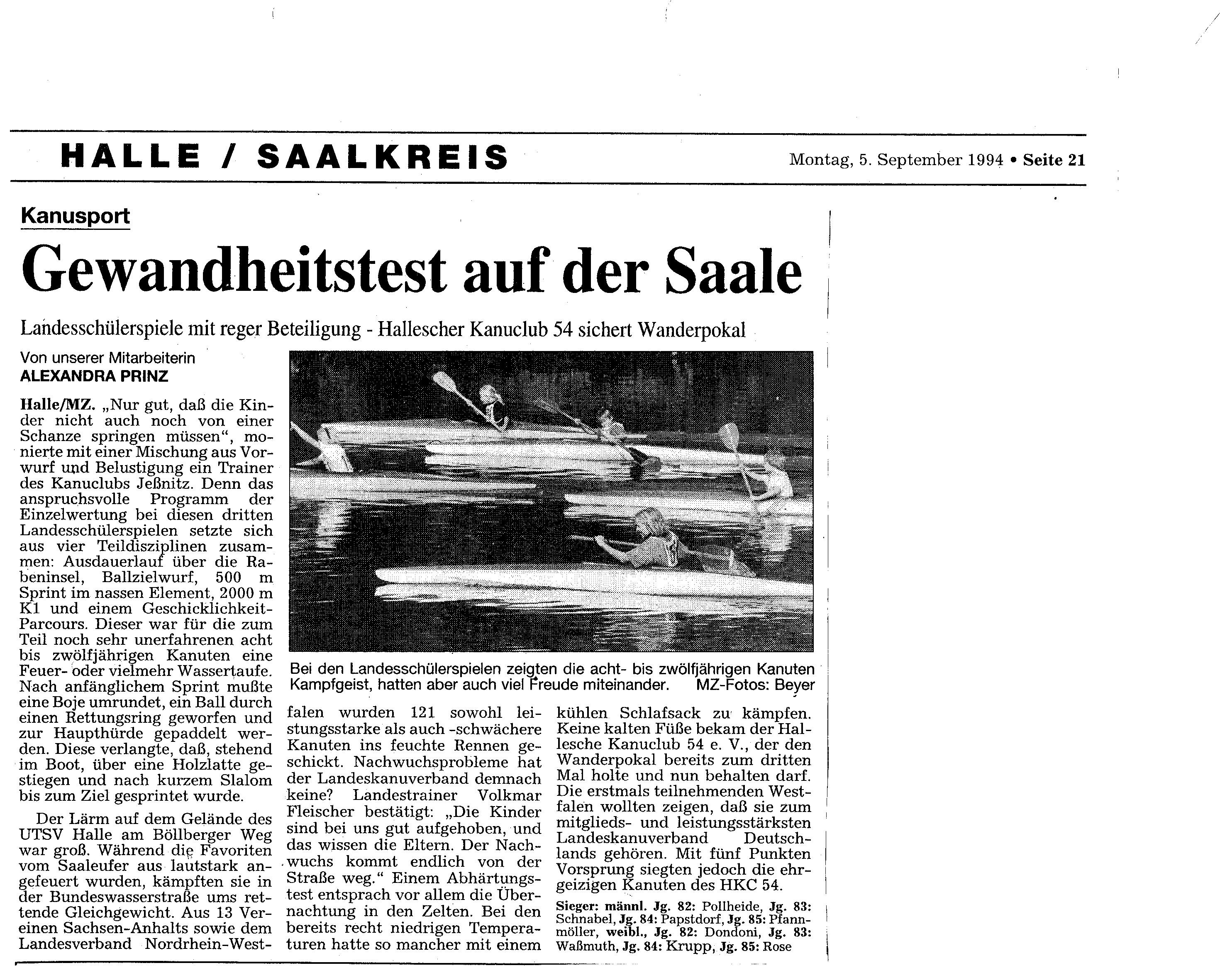 1994-09-05 MZ Gewandheitstest auf der Saale