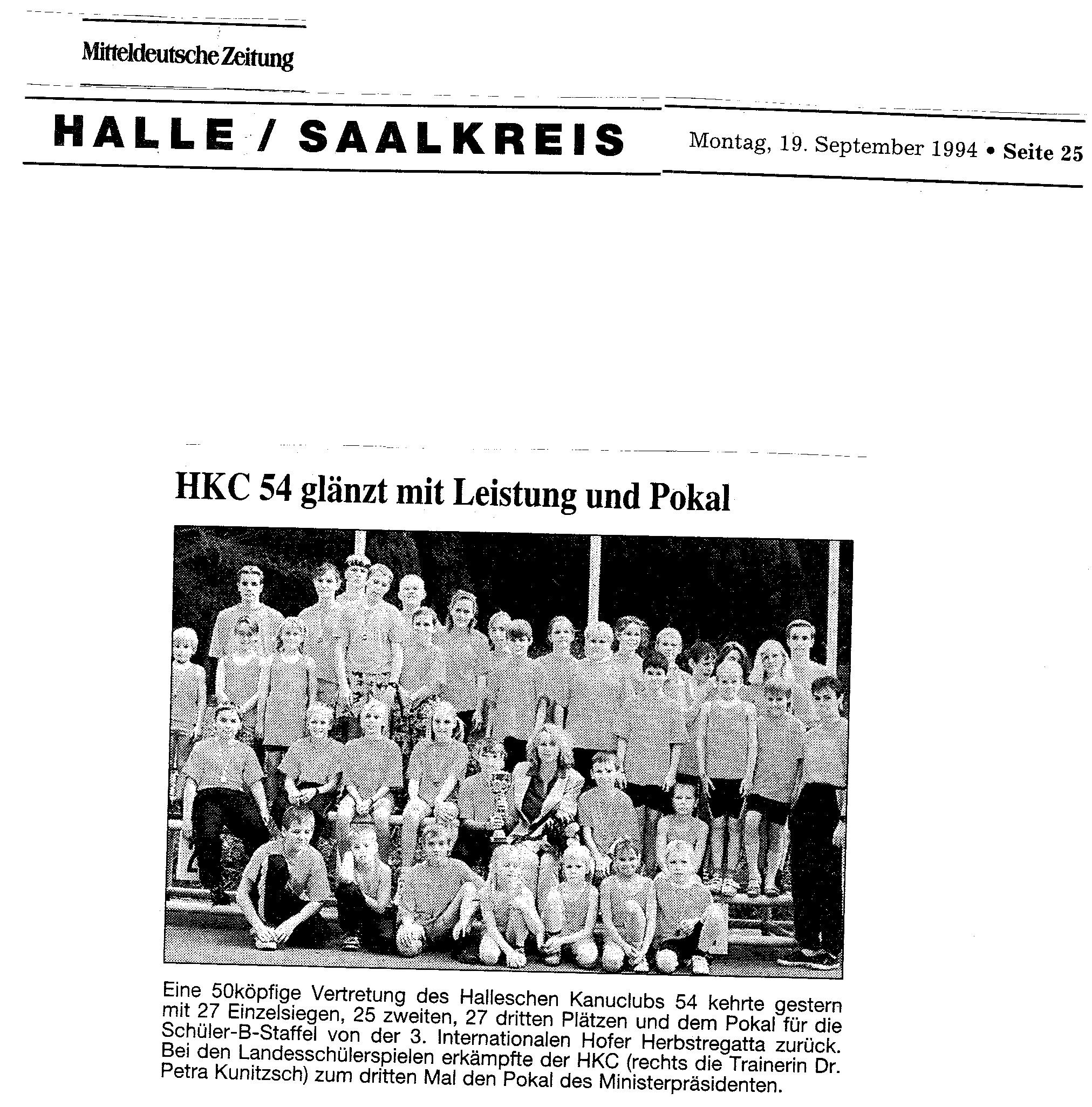 1994-09-19 MZ HKC 54 glänzt mit Leistung udn Pokal