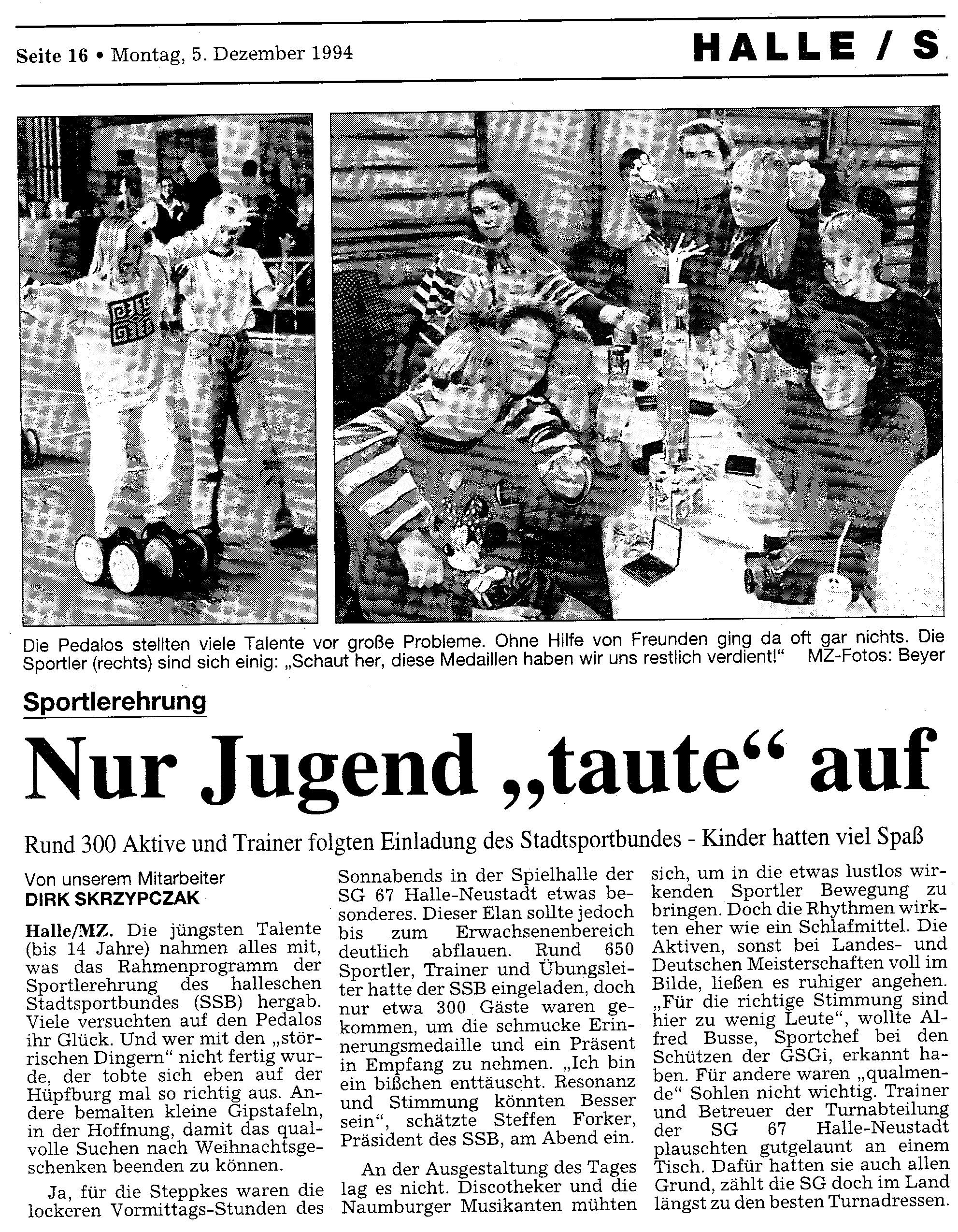 1994-12-05 MZ Nur Jugend taute auf