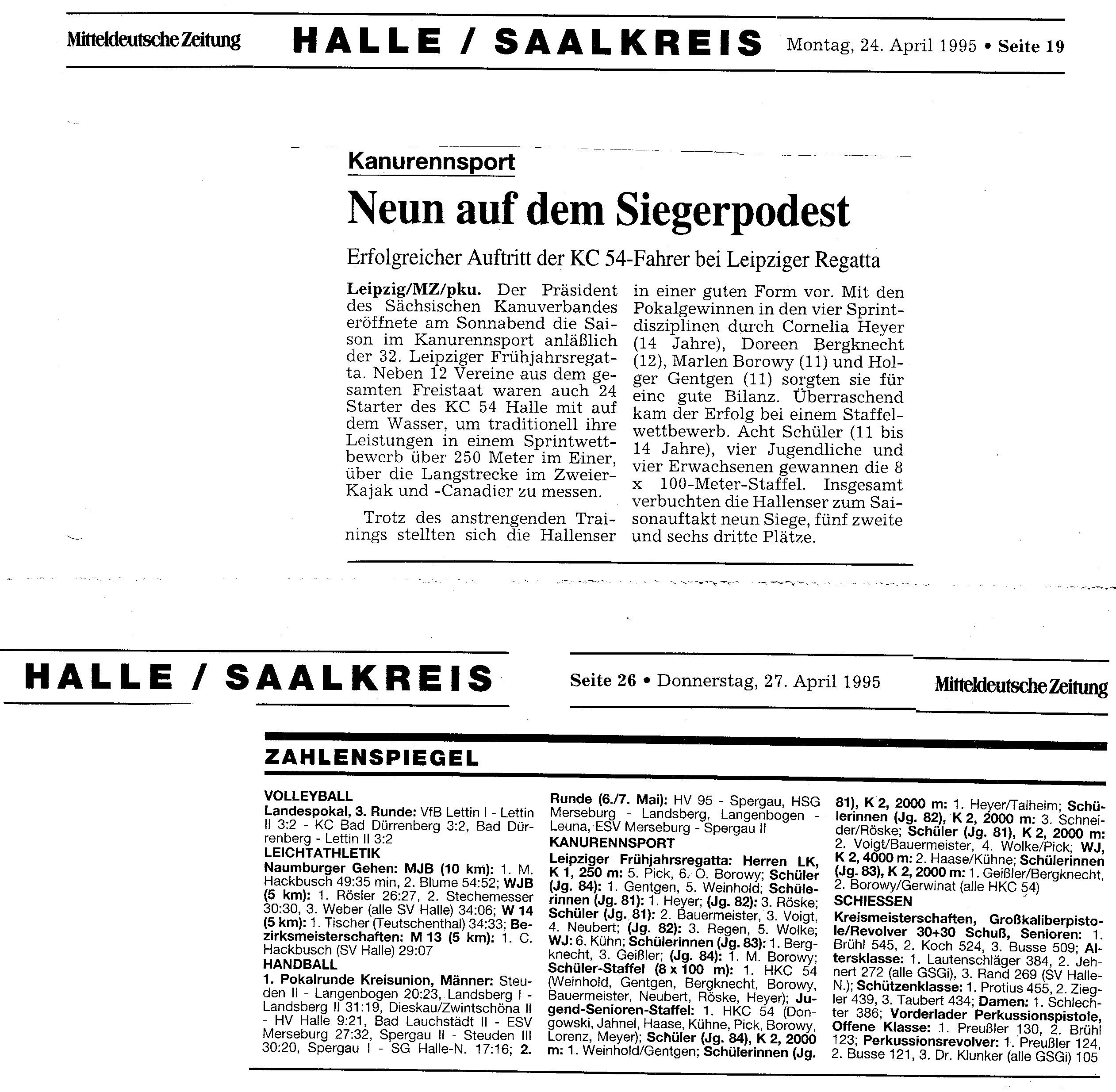 1995-04-24 MZ Neun auf dem Siegerpodest