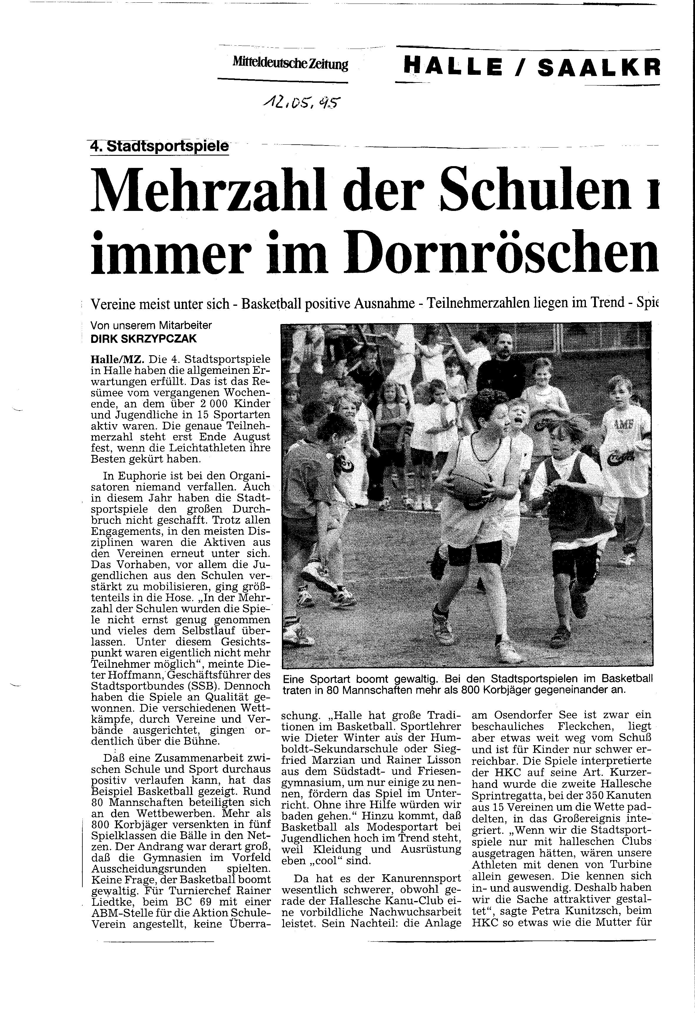 1995-05-12 MZ Mehrzahl der Schulen noch immer im Dornröschenschlaf
