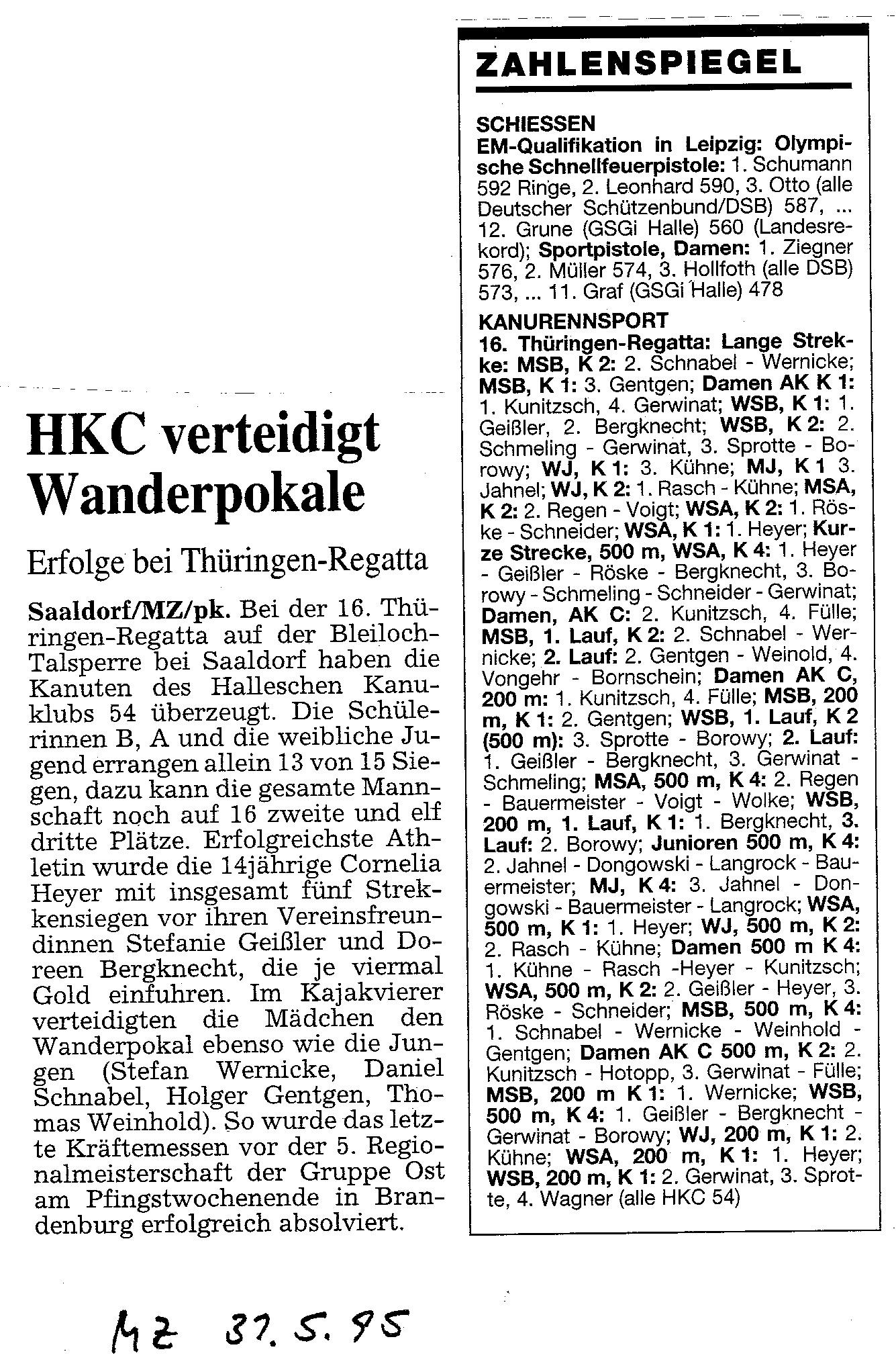 1995-05-31 MZ HKC verteidigt Wanderpokale