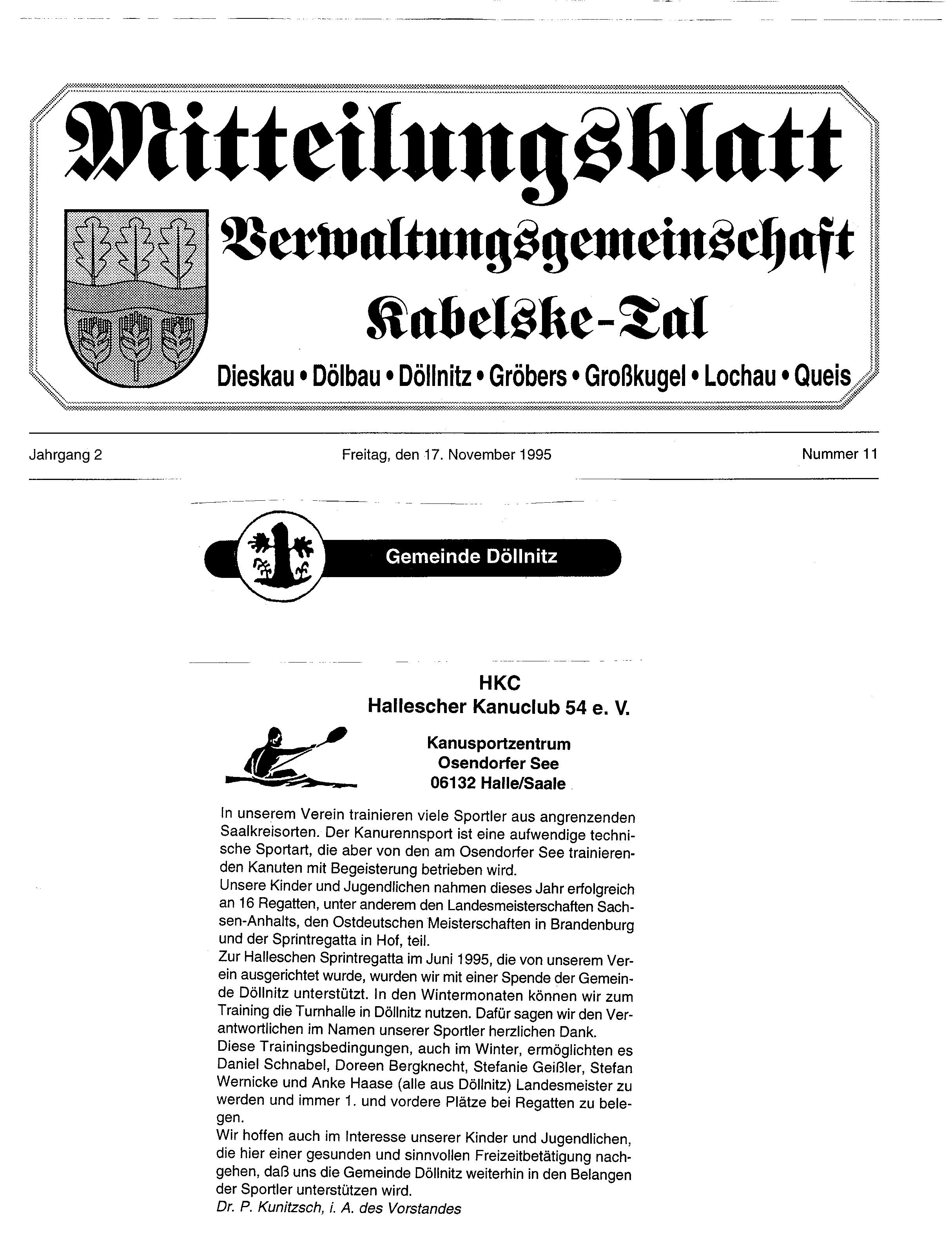1995-11-17 Kabelske Tal HKC 54