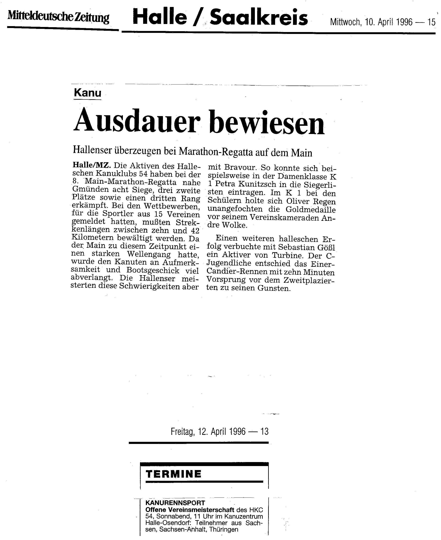 1996-04-10 MZ Ausdauer bewiesen