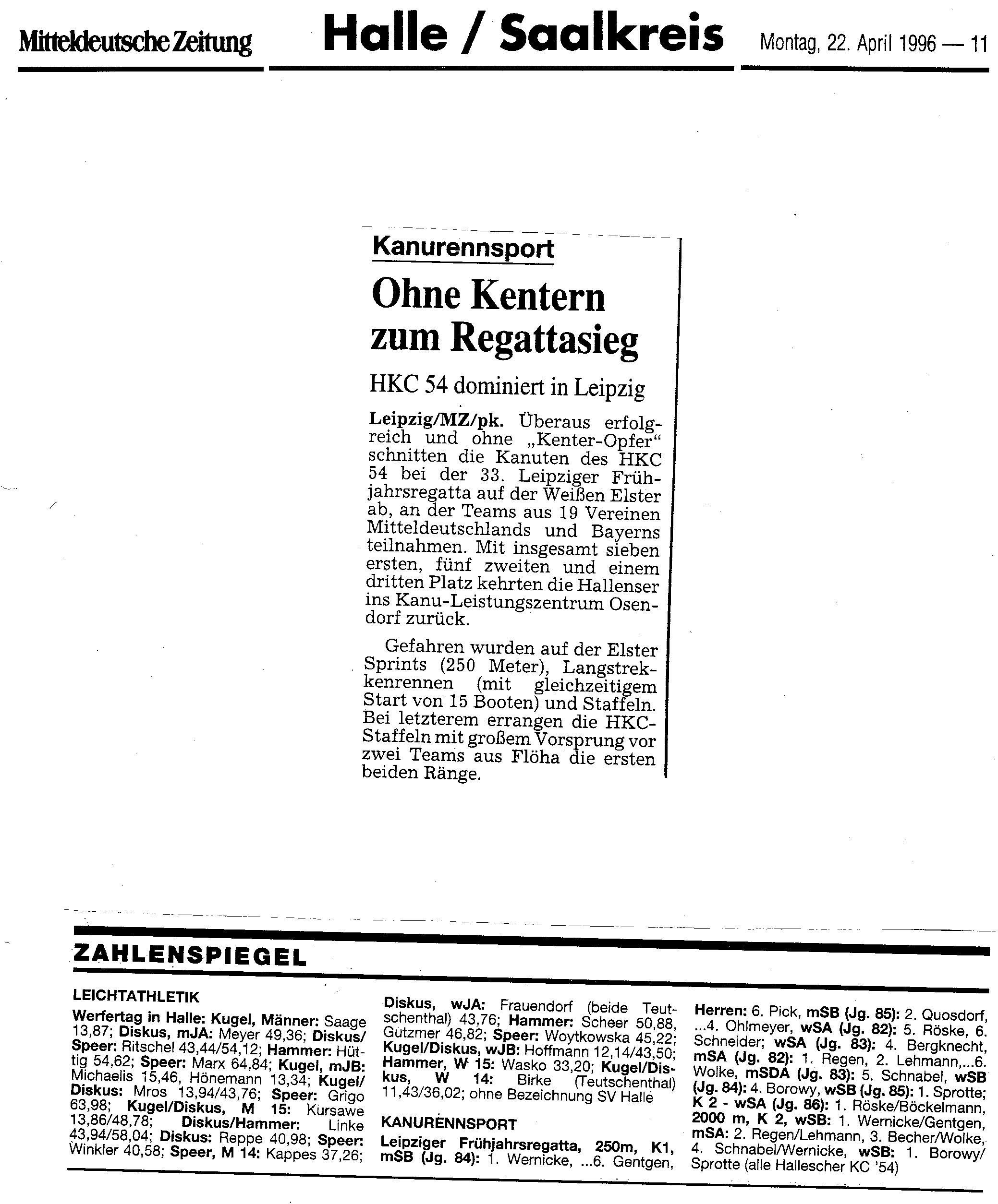 1996-04-22 MZ Ohne Kentern zum Regattasieg