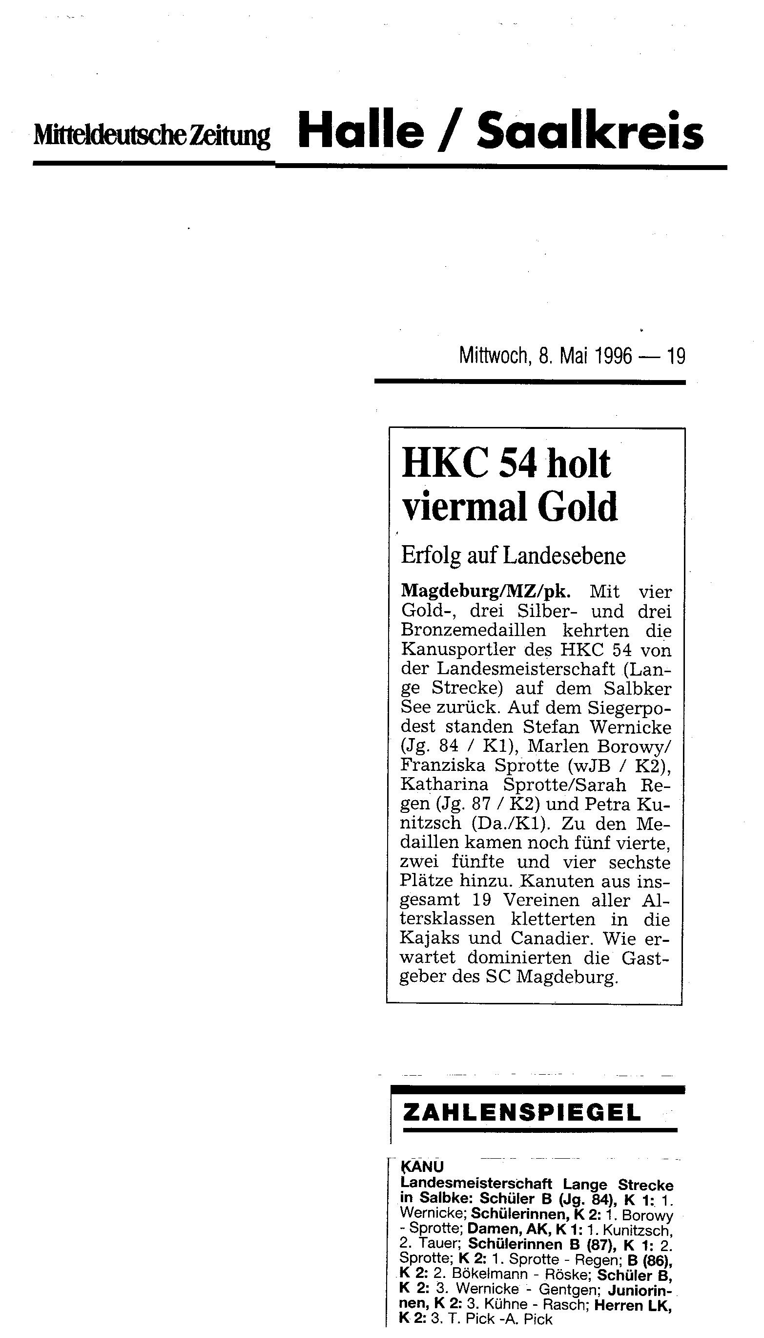 1996-05-08 MZ HKC 54 holt viermal Gold