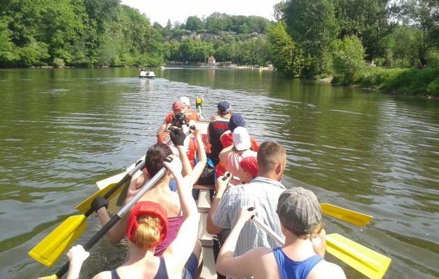 Saaletour im Drachenboot am 21.05.2017