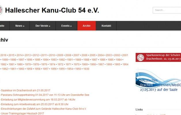 Das Archiv des Halleschen Kanu-Club nun online