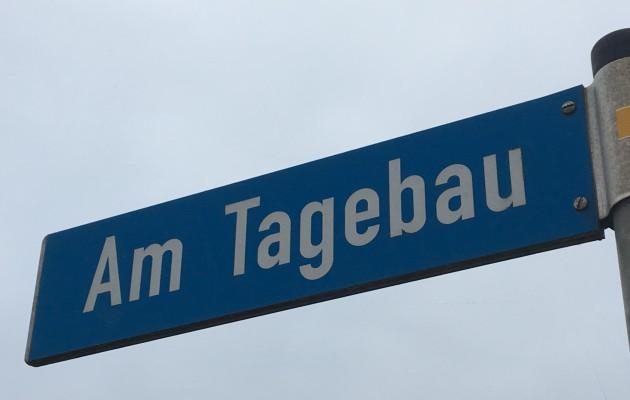 """Verkehrsänderung Straße """"Am Tagebau"""""""