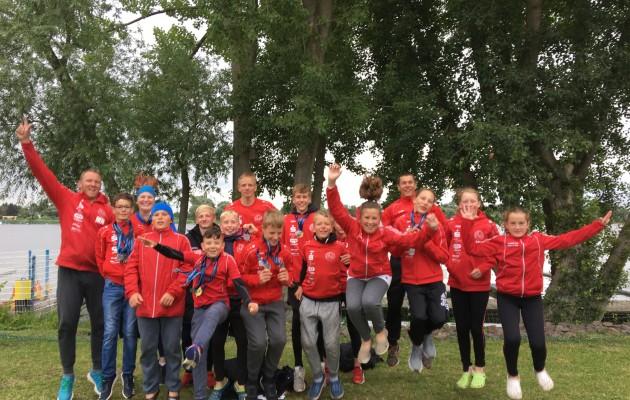 Starkes Schüler-B Team vom Halleschen Kanu-Club von den ostdeutschen Meisterschaften zurück.