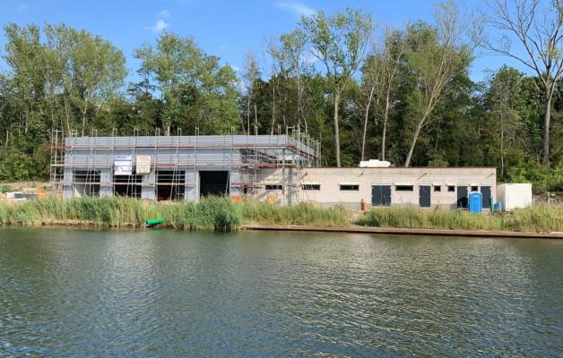Unser neues Bootshaus steht