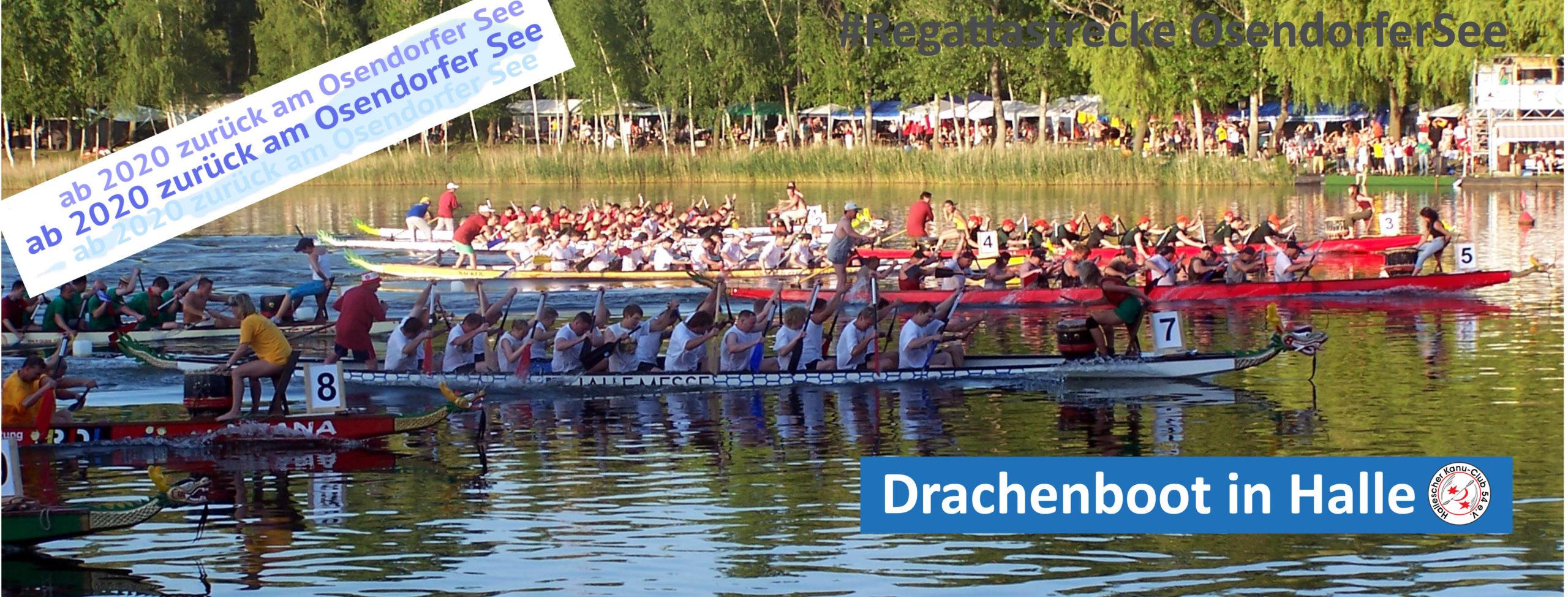 20. Hallesches Drachenbootrennen am 11.07.2020- AUF DEM OSENDORFER SEE