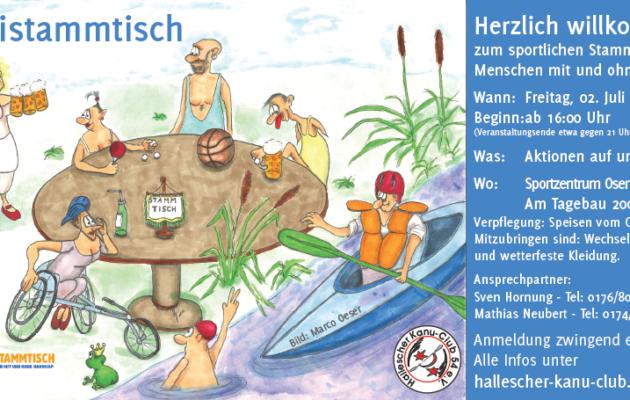 Stammtisch für Menschen mit und ohne Handicap am 02.07.2021 – Kanuzentrum Osendorfer See/Halle